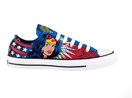 0adcb065af32 Super-Heroine-Styled Shoes   Wonder Woman Converse All Star Lo Tops