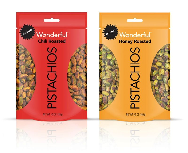 Prepackaged Roasted Pistachio Snacks