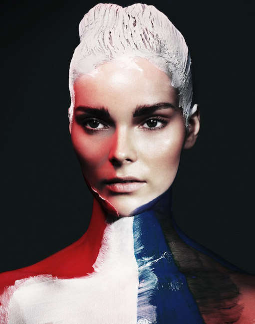Paint-Plastered Beauty Editorials