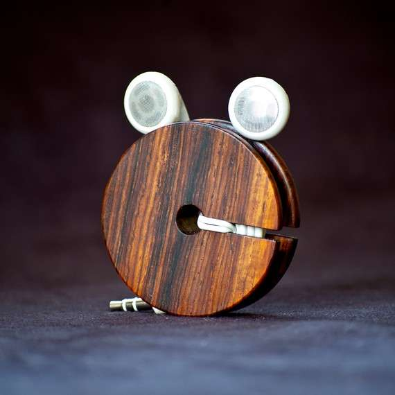 Wooden Earphone Organizers