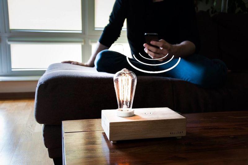 Rustic Lamp Speakers