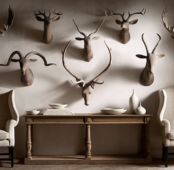 Wooden Animal Wall Mounts