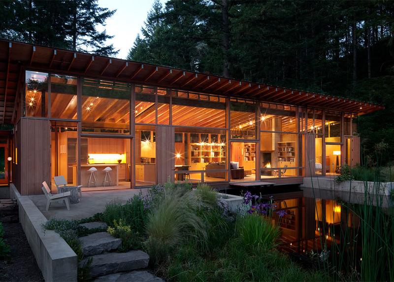 Wood-Clad Modern Homes