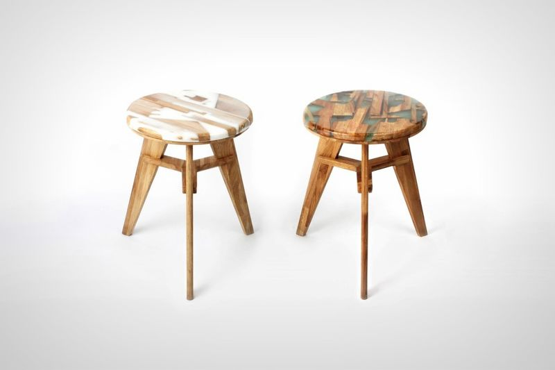 Wood Waste Stools