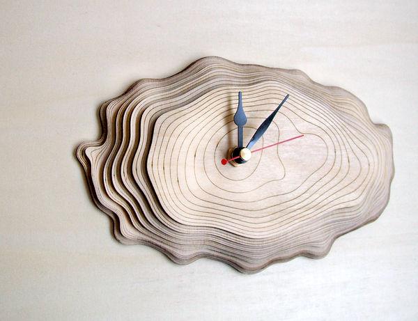 Multi-Layered Wooden Clocks