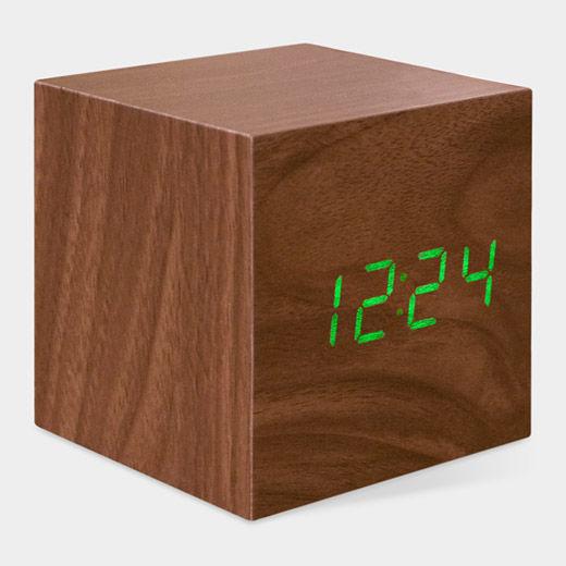 Wooden Cube Clocks