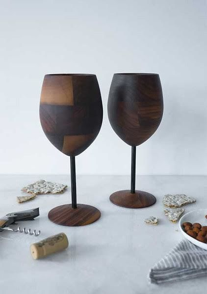Wooden Cocktail Cups