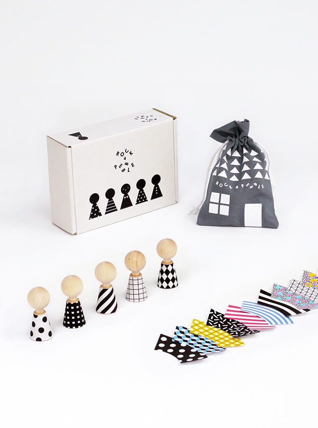 Dress-Up Wooden Dolls