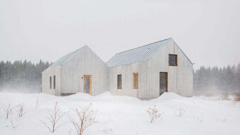 Gabled Wooden Guest Houses