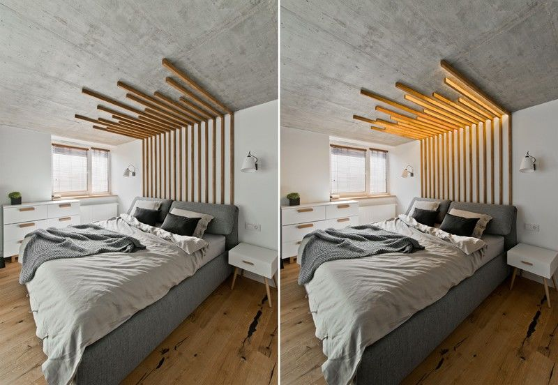 Illuminating Wooden Headboards