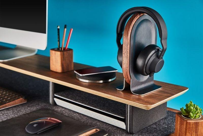 Timber Desktop Technology Stands