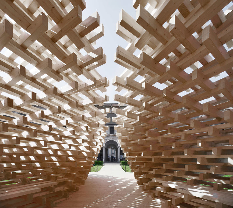 Ultra-Intricate Wooden Pavilions : wooden pavilion