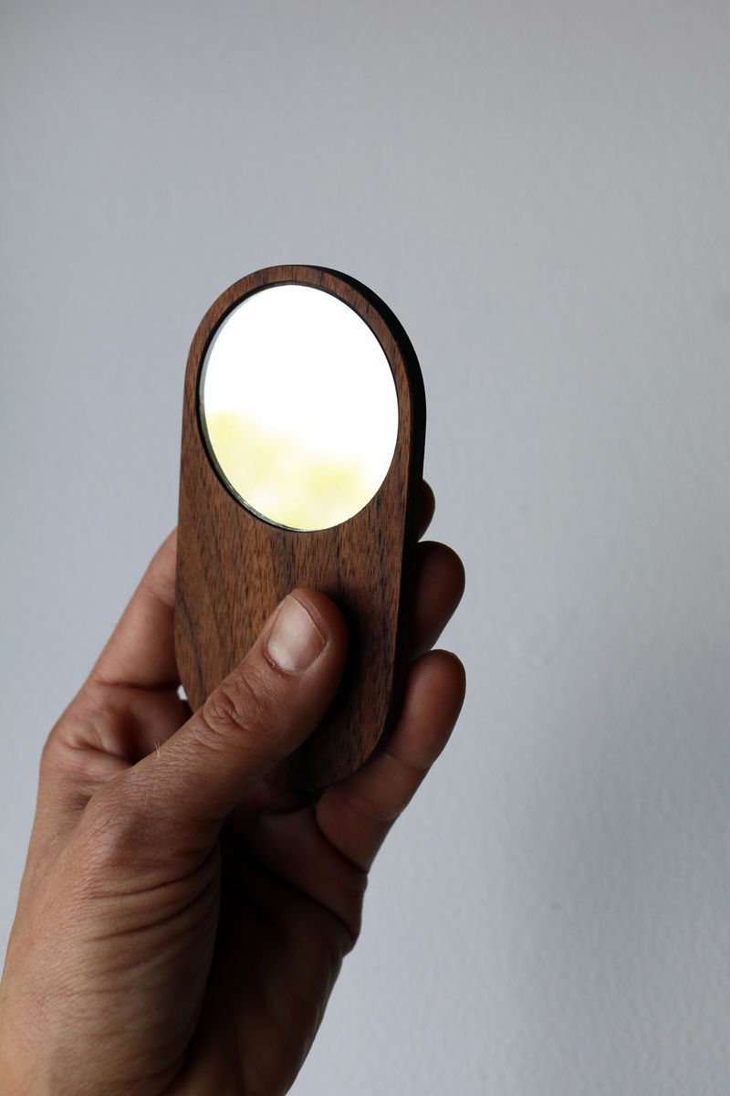 Sleek Wooden Pocket Mirrors