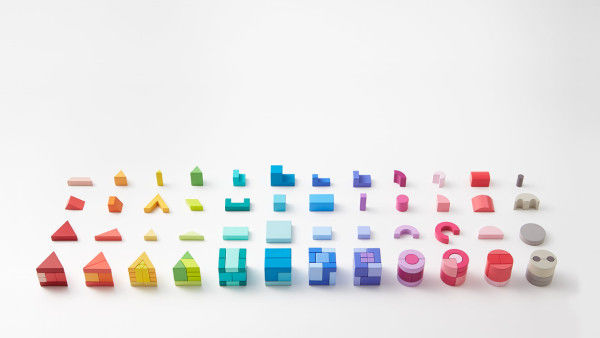 Elegantly Technicolor Block Toys