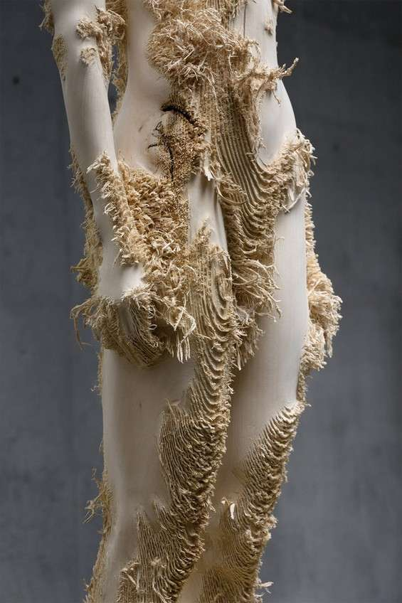 Shredded Timber Sculptures