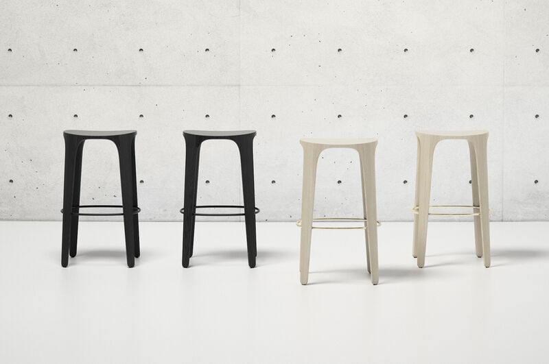 Nature-Inspired Solid Wooden Stools