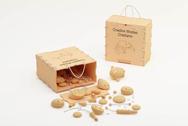 Modular Creature Toys Wooden Toy Kit