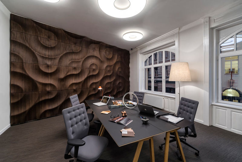 Sculptural Wooden Walls