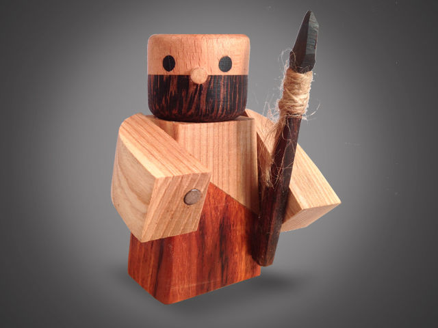 Wooden Warrior Figurines