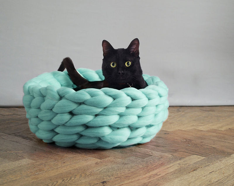Merino Wool Cat Beds
