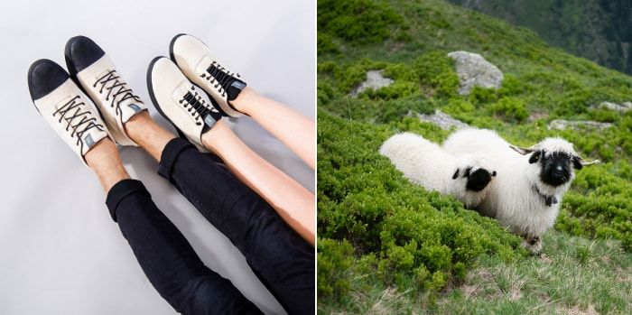 Sheep-Inspired Wool Sneakers