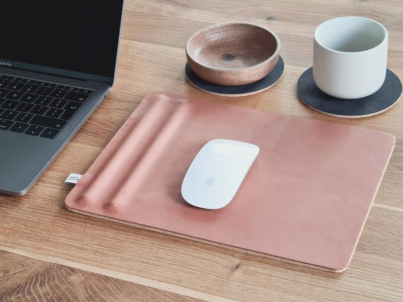 Lux Leather-Made Desktop Accessories