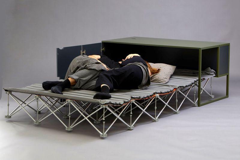 Hybrid Convertible Workstation Beds