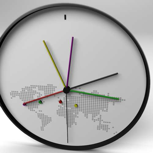 Timezone Tracking Clocks -''World Clock' Keeps You Up to Speed With Selected Countries