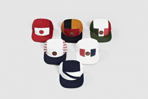 Color Block Soccer Caps