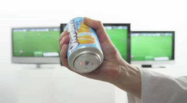 Anti-Soccer Soda Cans