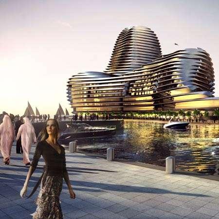 Green Luxury Building at Al Raha Beach