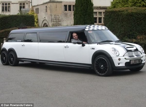 Stretched Out Miniature Cars Worlds Longest Mini Cooper