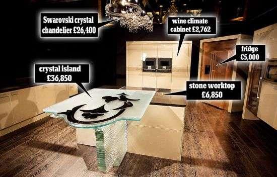 lavish big budget kitchens world 39 s most expensive kitchen. Black Bedroom Furniture Sets. Home Design Ideas