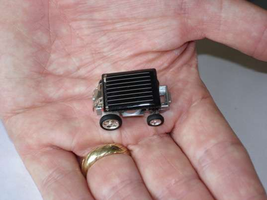 Teenie Tiny Solar Powered Cars