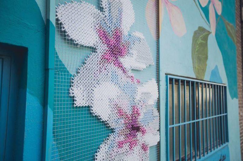 Cross-Stitched Murals