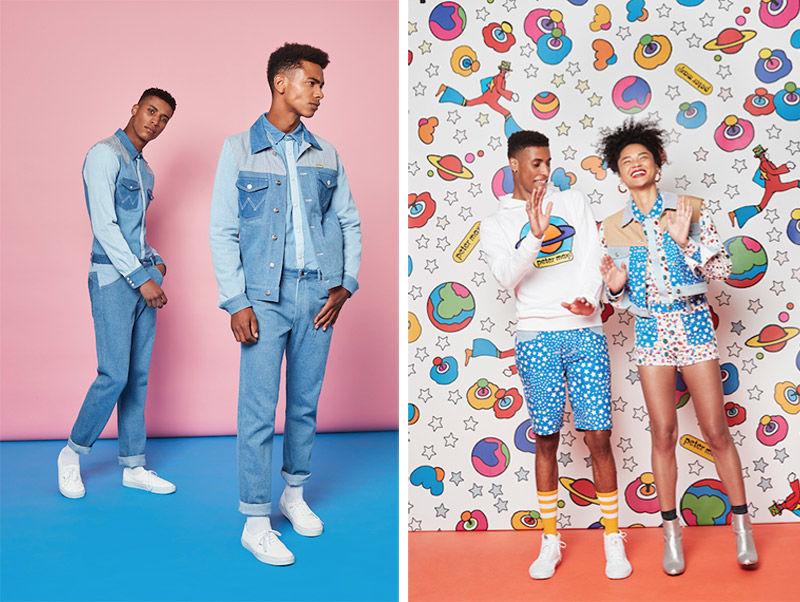 Collaborative Patterned Denim Wear