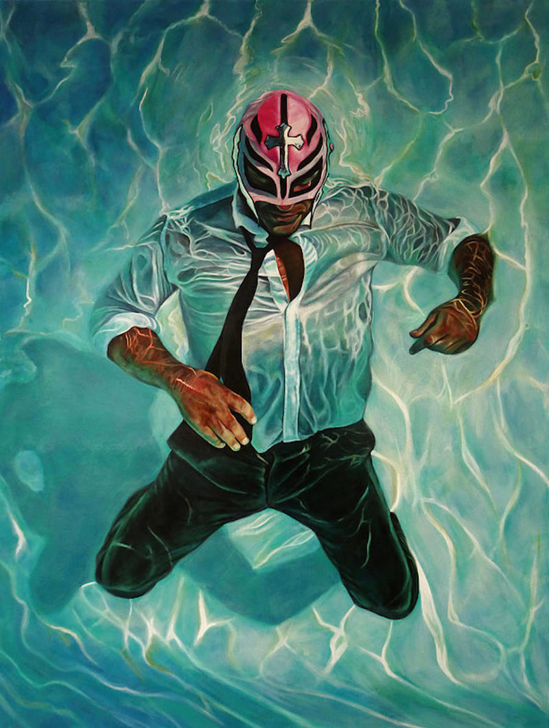 Wrestling Mask Oil Paintings