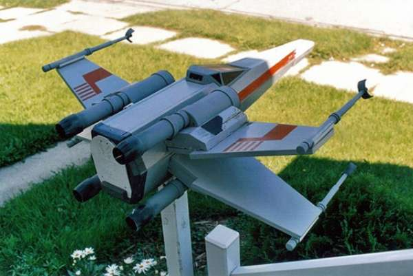Sci-Fi Fighter Mailboxes