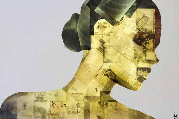 Collaged X-Ray Portraits