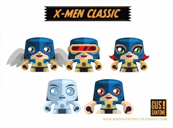 Superhero Paper Dolls X Men Papercraft