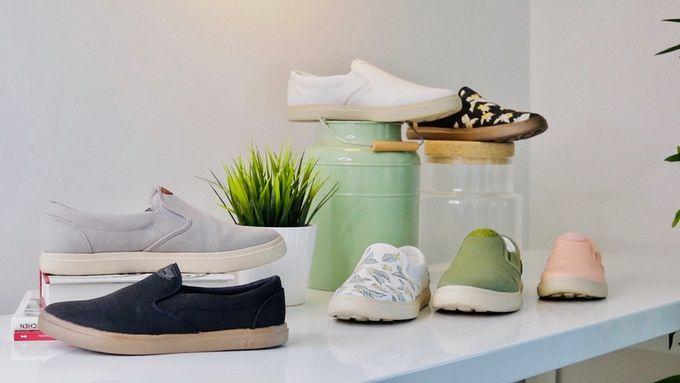 Coffee-Based Footwear
