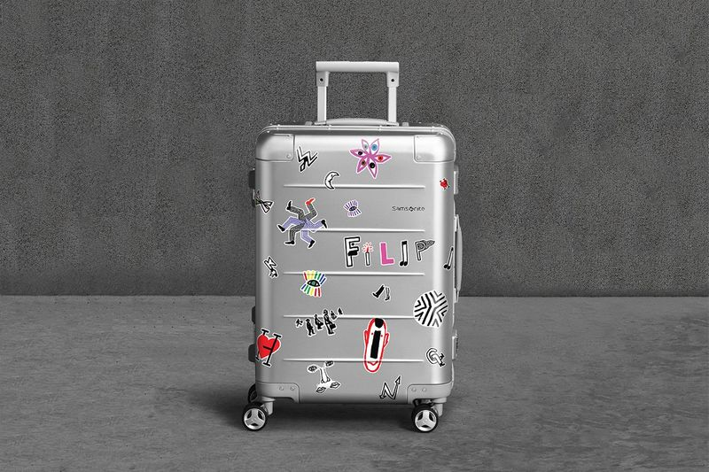 Artist-Designed Metal Suitcases
