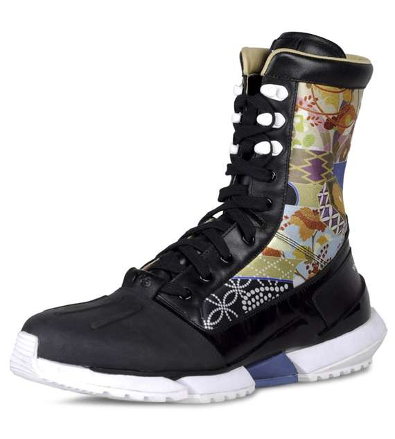 Japanese Floral Boots : Y 3 Warrior