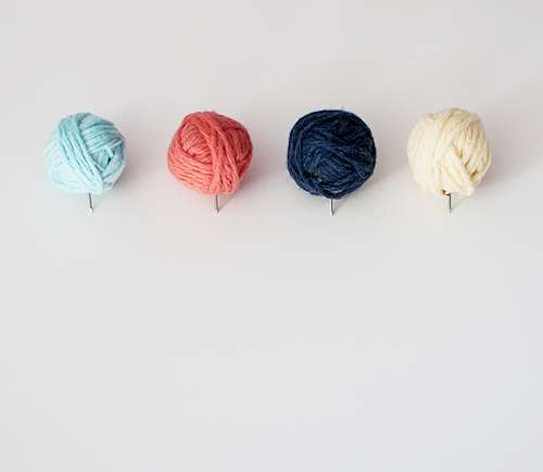 Miniature Yarn Ball Pins