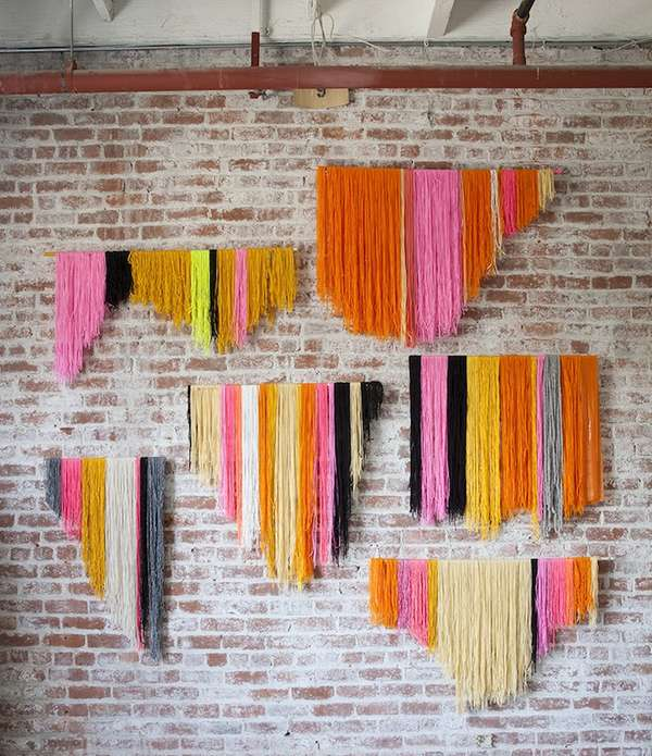 Vibrant Yarn Wall Displays