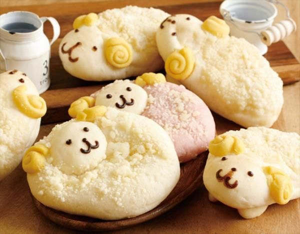 Sheep-Shaped Baked Goods