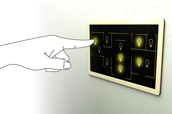 Touchscreen Illuminators Yellow Light Switch