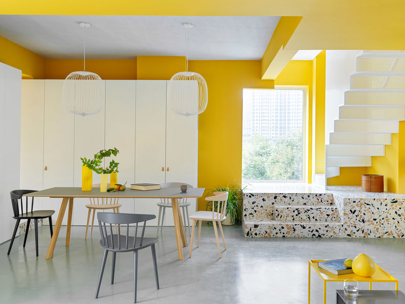 Contemporary Yellow-Accented Homes