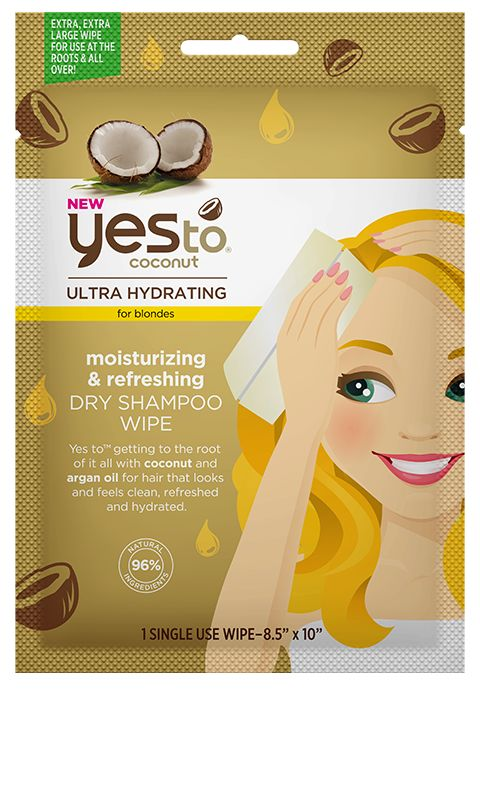 Coconut Dry Shampoo Wipes