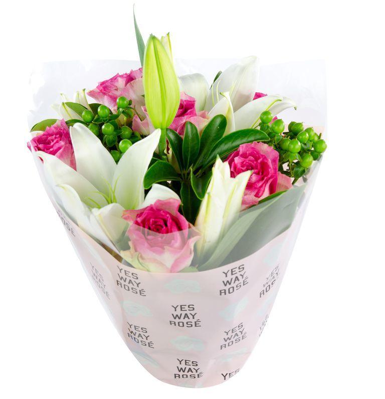 Rosé-Themed Bouquets